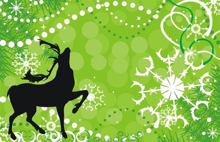 Christmas deer 일러스트