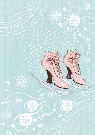 Retro-styled ice skates Vector