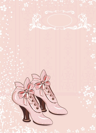 A pair of vintage womans boots Vector