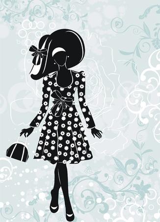 fashion girl  矢量图像