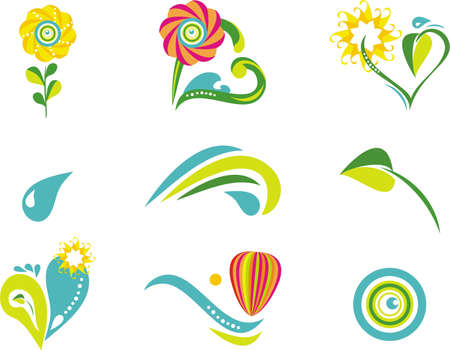 white flower: Nature and environment icon set