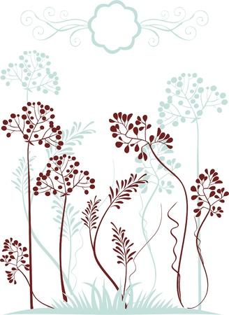Plants silhouettes  Ilustrace