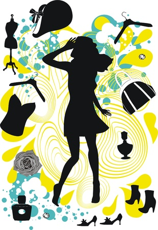fashion girl  Ilustrace