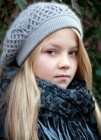 innocense: Portrait of  girl in winter clothes