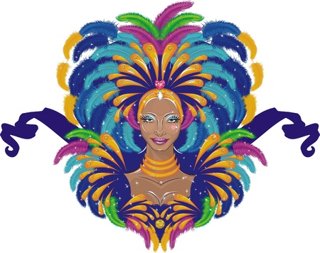 Beautiful carnival girl Illustration