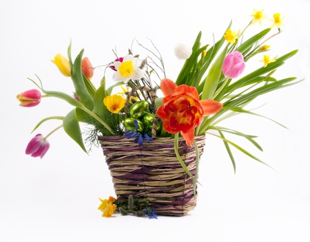 flower baskets: Easter arrangement