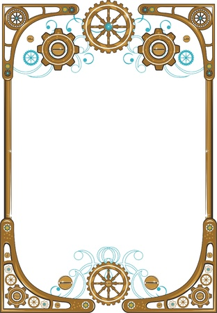 Steampunk frame Stock Vector - 13183786