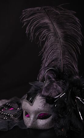 Venetian Mask, against black background
