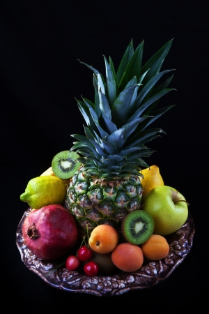 Still life of tropical fruits  photo
