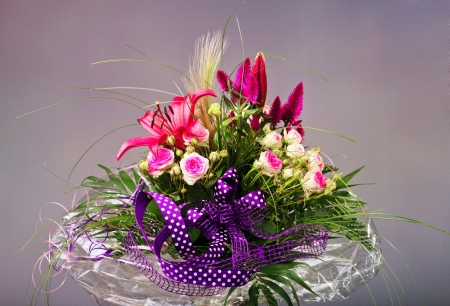 Colorful Floral Arrangement photo
