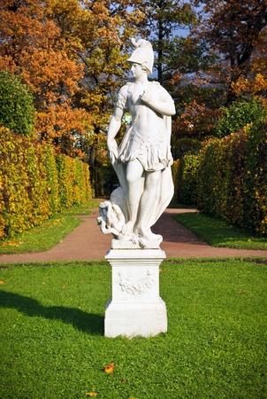 selo: Statue in the park Tsarskoye Selo, Russia