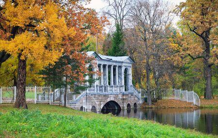 selo: Marble Bridge in the park Tsarskoye Selo, Russia
