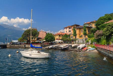 lake como: View of Varenna town  at lake Como Italy