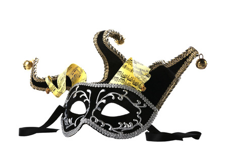 Venetian Mask with bells on a white background  photo
