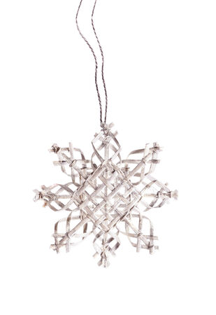 Christmas decoration silver snowflake photo