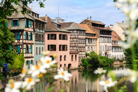 Strasbourg, water canal in Petite France area. photo