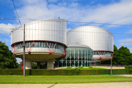 rights: STRASBOURG, FRANCE - MAY 30: Building of the European Court of Human Rights, which is international court established by the European Convention on Human Rights, in May 30, 2014.
