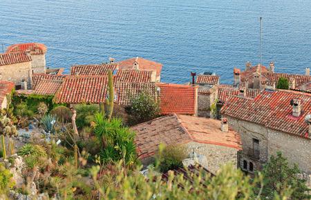 seaview: Exotic garden in Eze village, French Riviera Stock Photo