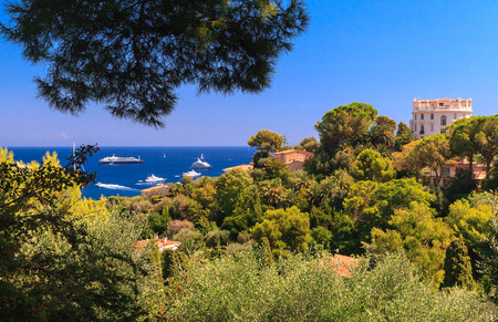 cote d'azur: Aerial view of Cap Ferrat, French Riviera Stock Photo