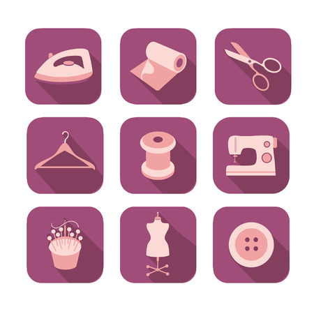 Tailor icons set