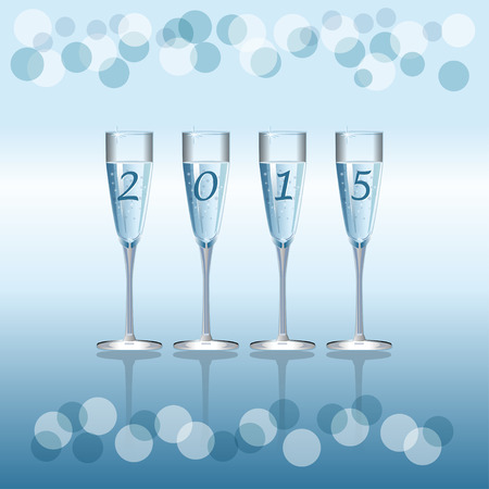 champaign: Vector holiday background with Champagne Flutes
