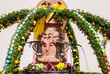 christanity: An Easter fountain in Miltenberg, Germany