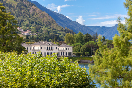 city park boat house: View of Como Lake, Lombardy, Italy