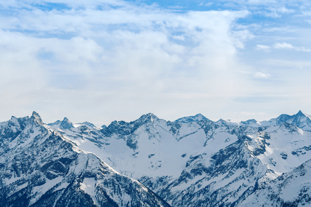 The Alps winter mountain landscape