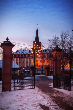 hessen: Winter in Erbach in Odenwald, Hessen, Germany