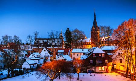 winterly: Winter in Erbach in Odenwald, Hessen, Germany