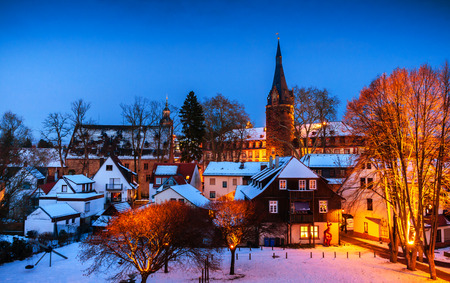 hessen: Winter in Erbach in Odenwald, Hessen, Germany