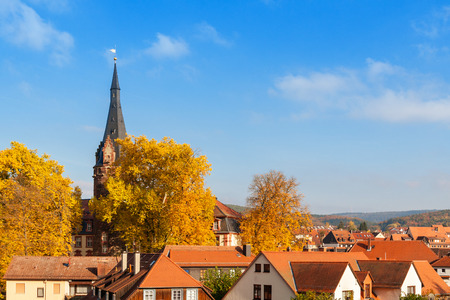 hessen: Autumn in Erbach in Odenwald, Hessen, Germany