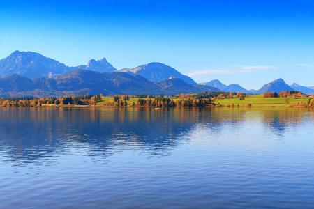View of Hopfensee lake.Bavaria, Germany Reklamní fotografie