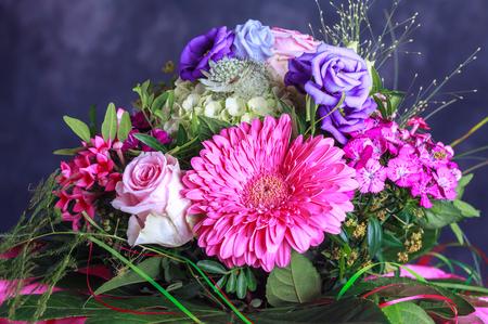 Bouquet of fresh pink spring flowers Reklamní fotografie