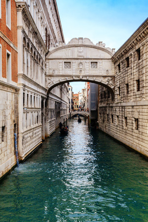 VENICE, ITALY - JANUARY 05, 2018: View on the Famous Bridge of Sighs, during winter days, Venice, Italy