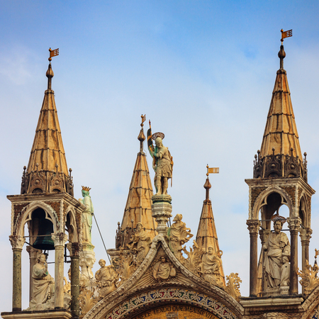 Detail of the basilica  San Marco in Venice, Italy.