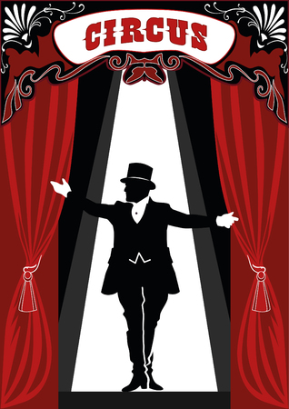 Retro style illustration of a ringmaster