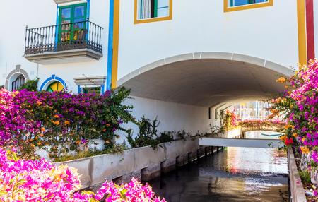Colorful Town of Puerto De Mogan. Gran Canaria, Canary Islands, Spain.