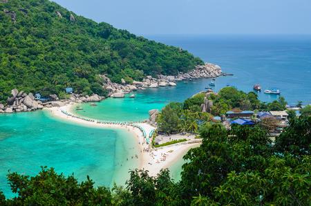 phangan: Separated sea at Koh Nang Yuan,Thailand