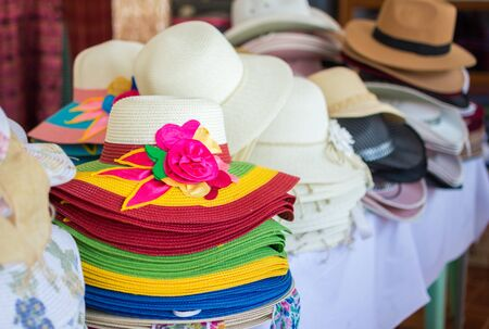 hats in a store,millinery.