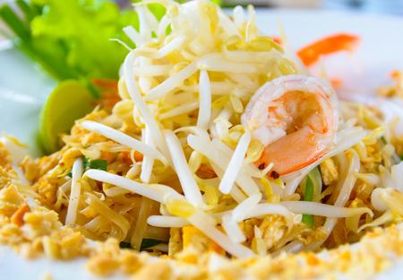 Fried Rice Noodle with Shrimp,Thai food.