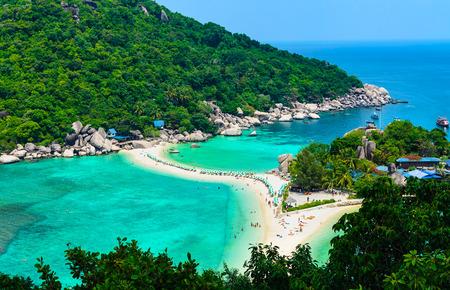 Separated sea at Koh Nang Yuan, Thailand. Stock Photo