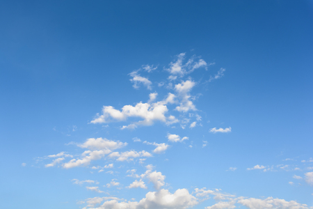 nice clouds on the blue sky. Stock Photo
