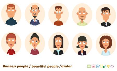 avatars business people. vector illustration.  イラスト・ベクター素材