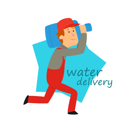 Water delivery service. Vector illustration. Stock Illustratie