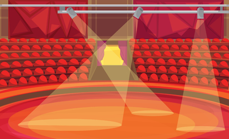 Circus arena. vector illustration Ilustrace