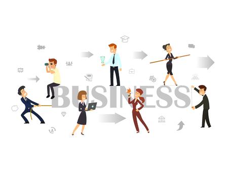 Team. Business concept illustration Illustration