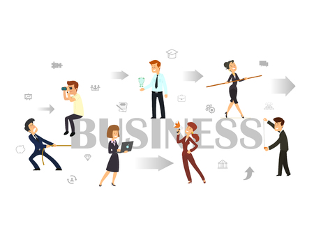 Team. Business concept illustration 向量圖像