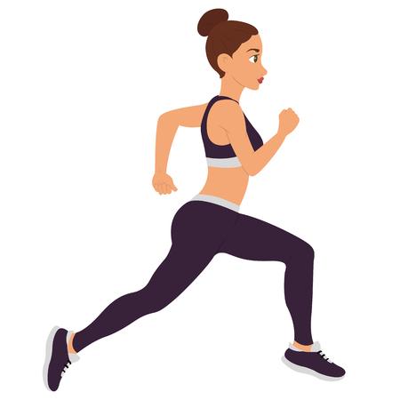 Running Woman. Vector
