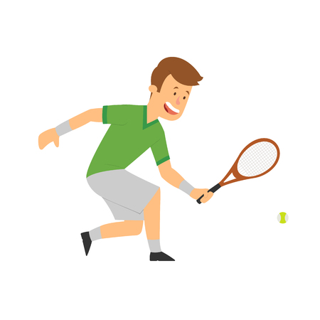 player in tennis. vector isolated illustration. Imagens - 117688749